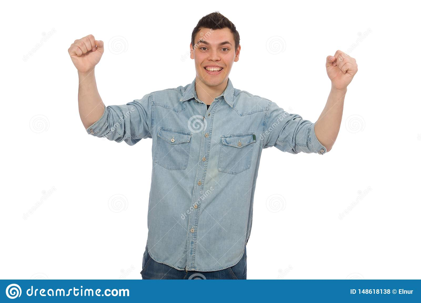 Estudiante masculino joven aislado en blanco