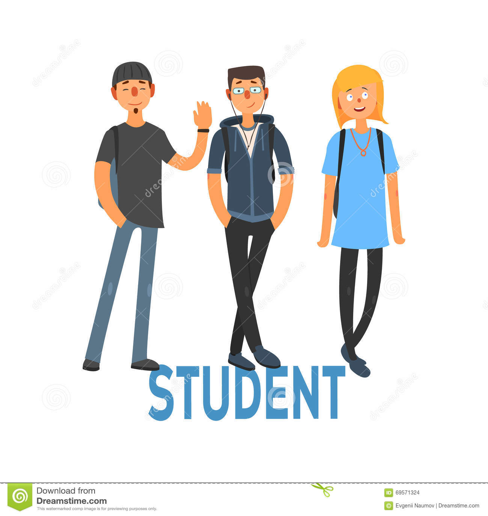Estudiante People Set 3