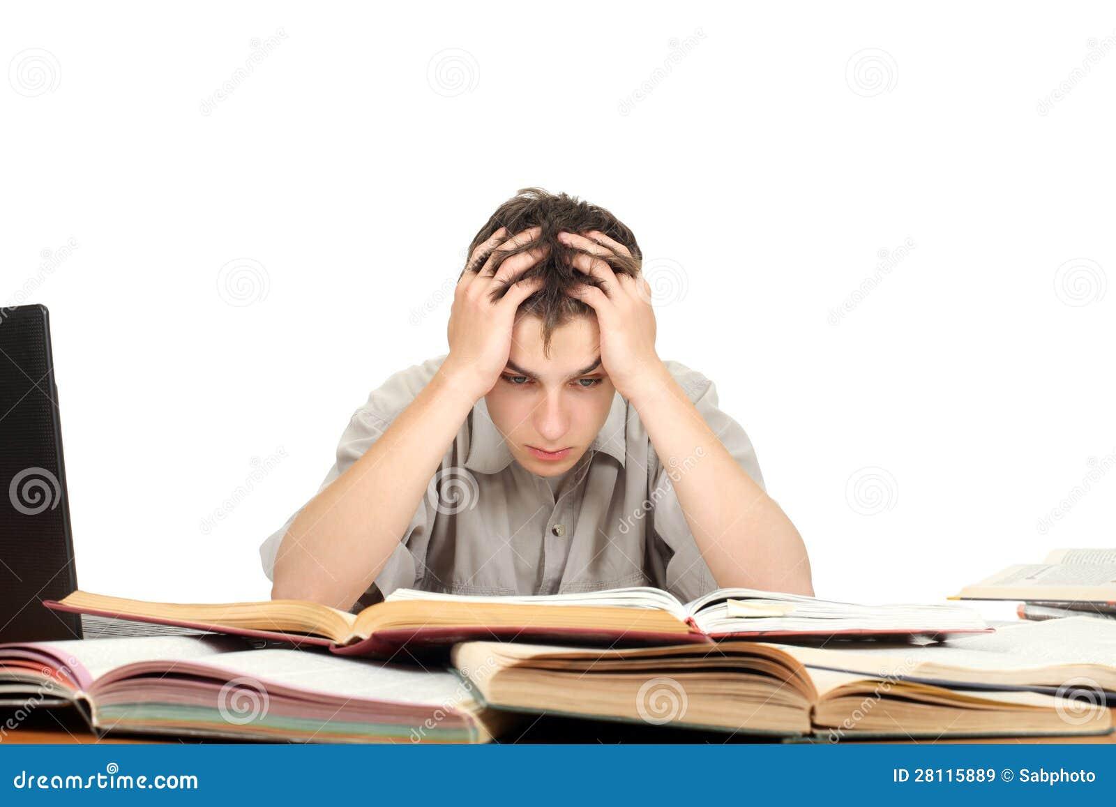 Estudiante Preocupado Imagen De Archivo. Imagen De Boring