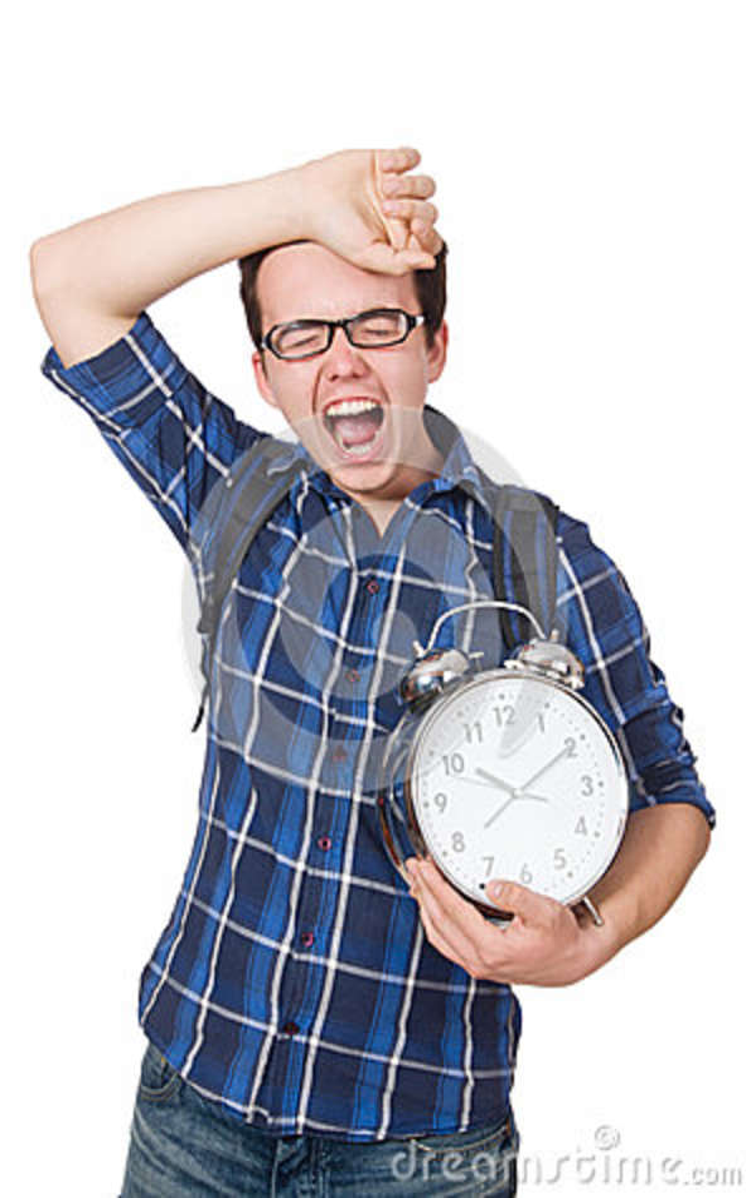 Estudiante que falta sus plazos que estudian