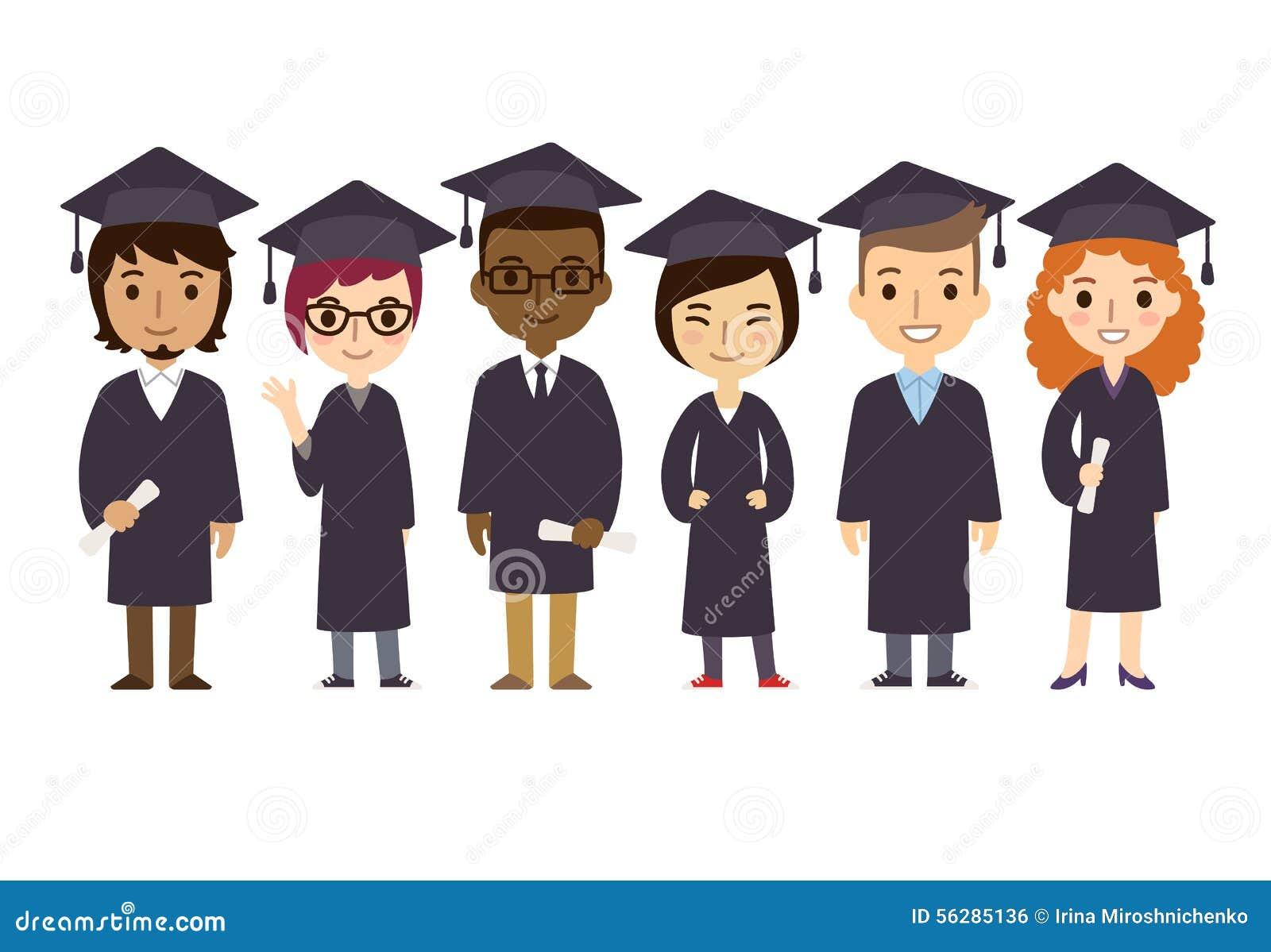 Estudiantes de la graduación