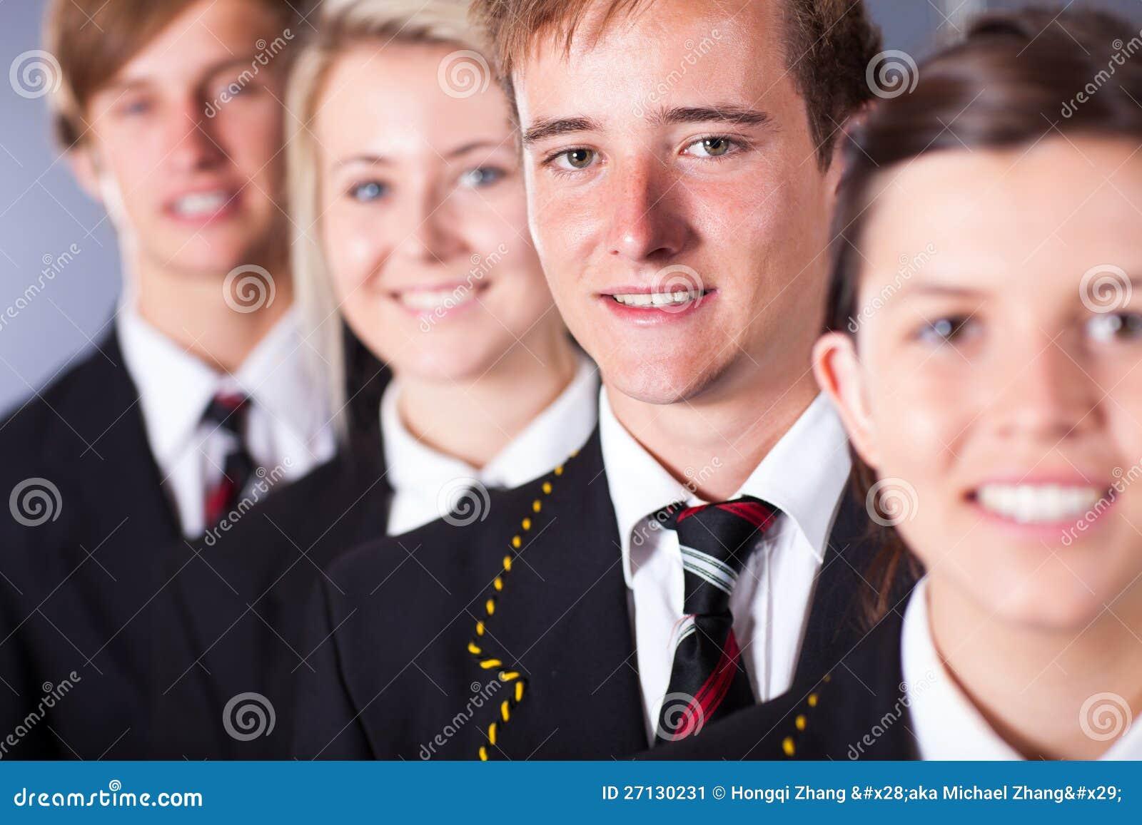 Estudiantes de la High School secundaria