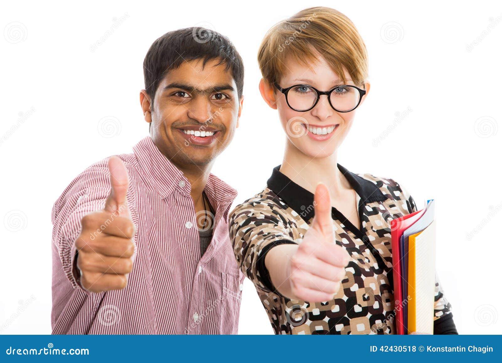 Estudiantes felices