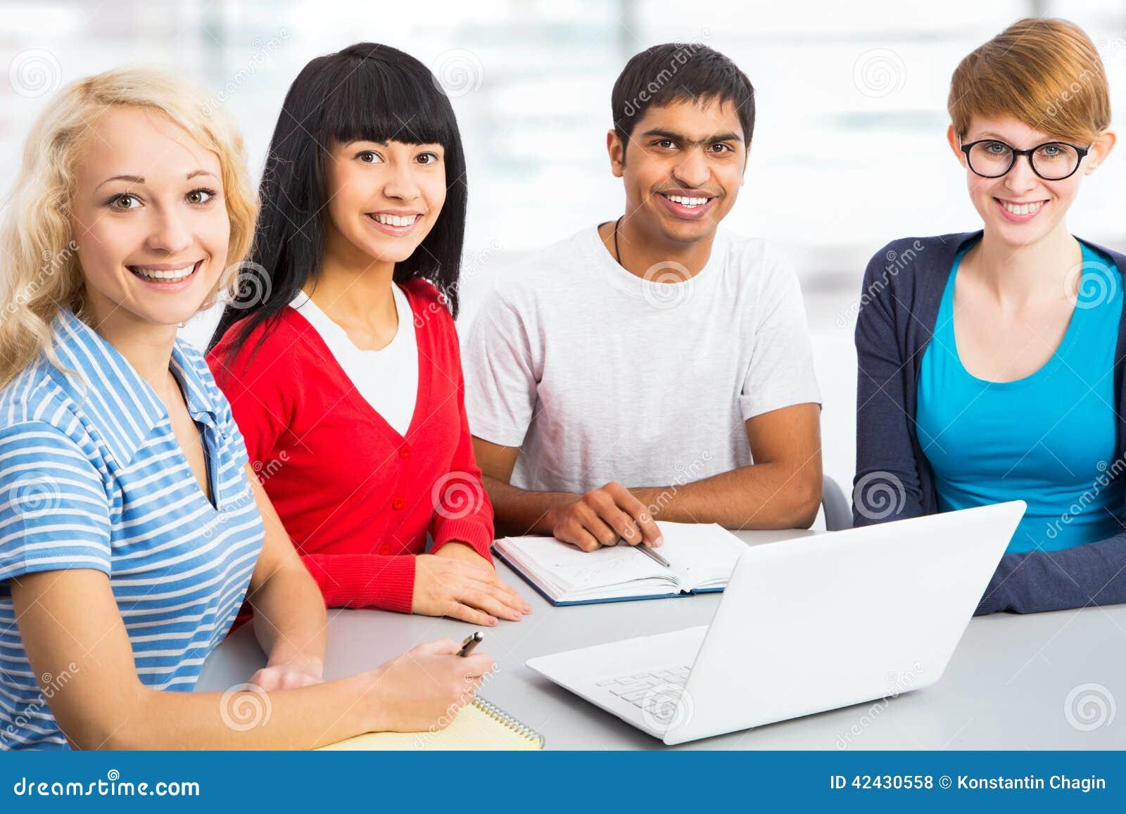 Estudiantes jovenes