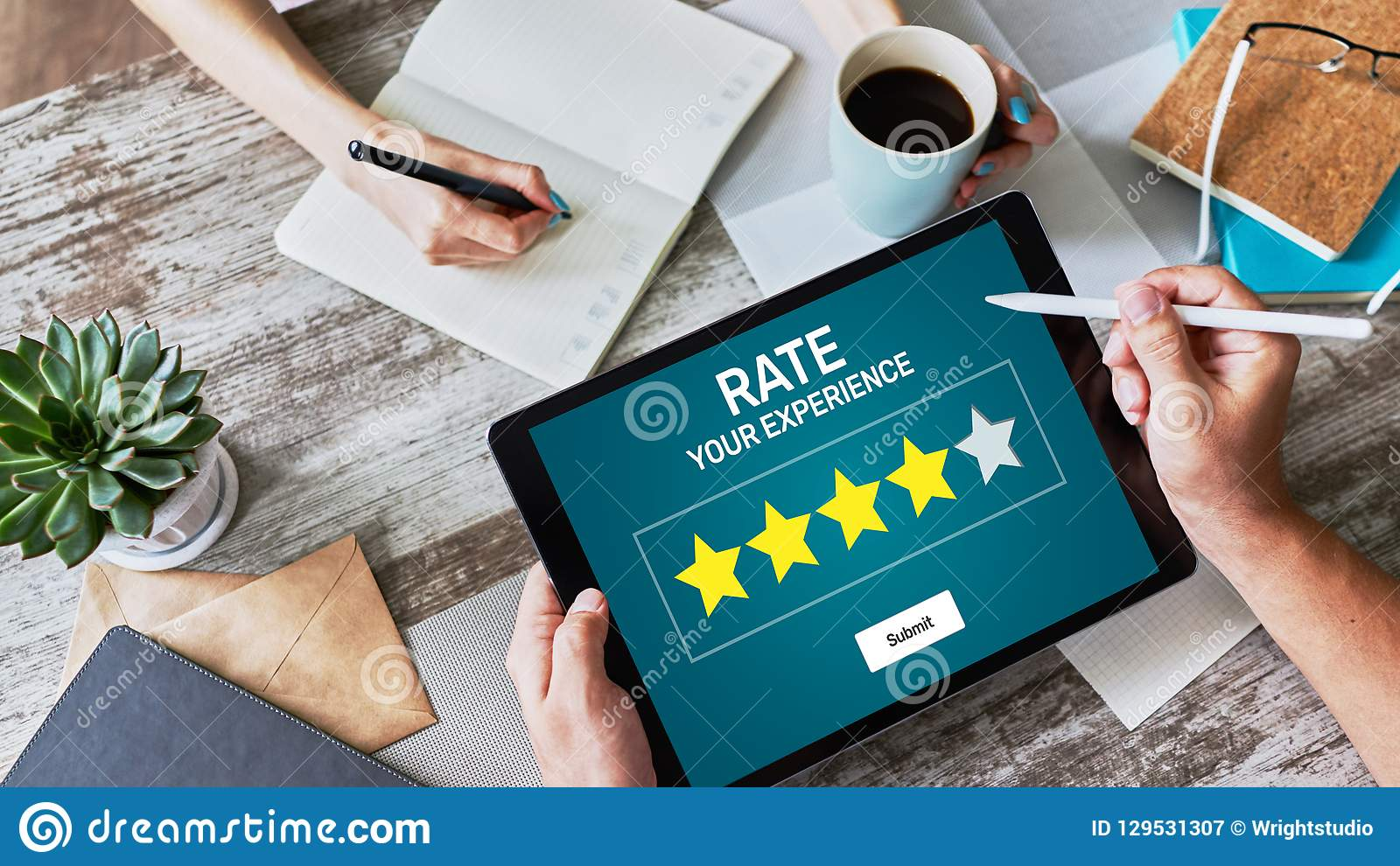Estudio de la experiencia del cliente de la tarifa Servicio y satisfacción del cliente Clasificación de cinco estrellas