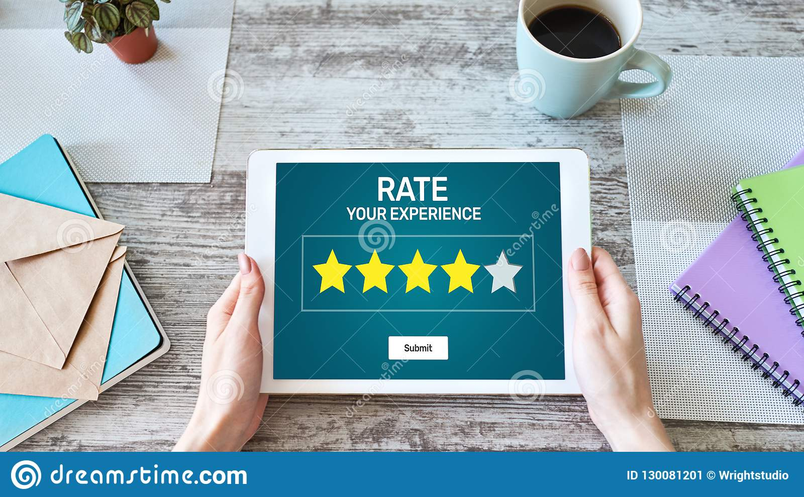 Estudio de la experiencia del cliente de la tarifa Servicio y satisfacción del cliente Clasificación de cinco estrellas Concepto