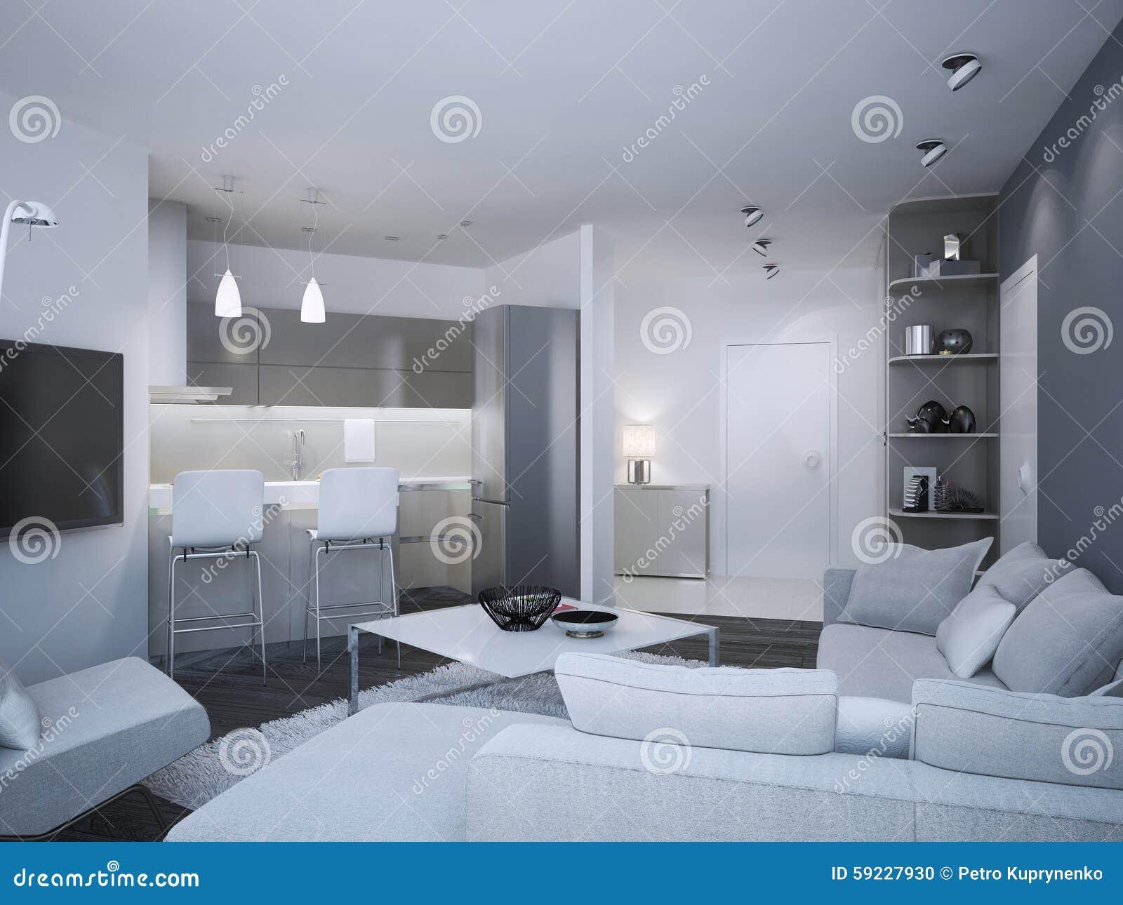 Estudio minimalista del apartamento