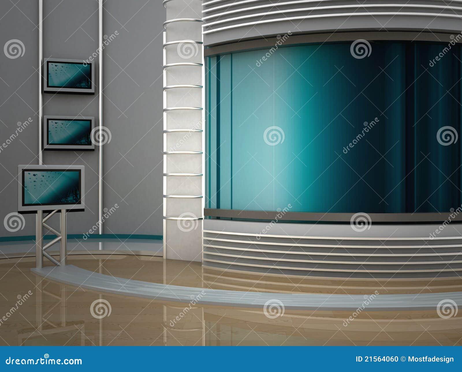 Estudio TV Foto de archivo - Imagen: 21564060