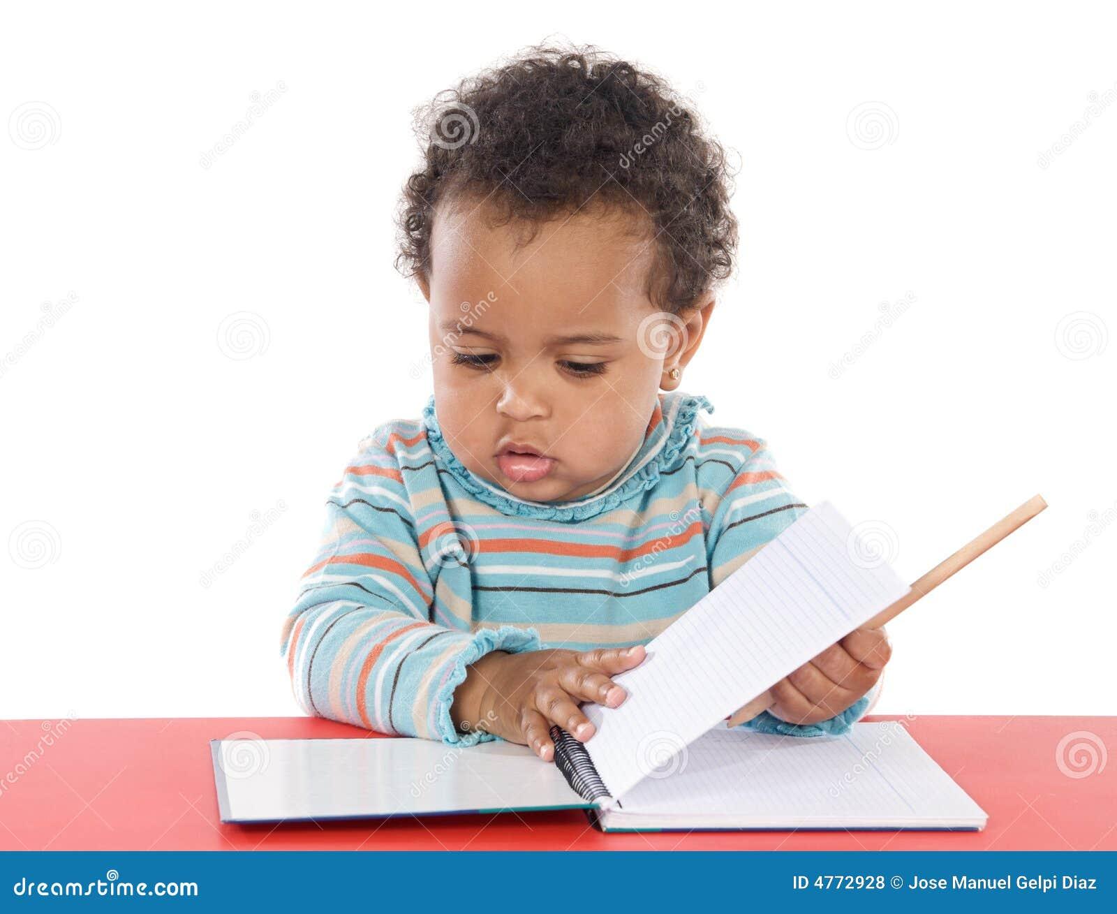 Estudo adorável do bebê