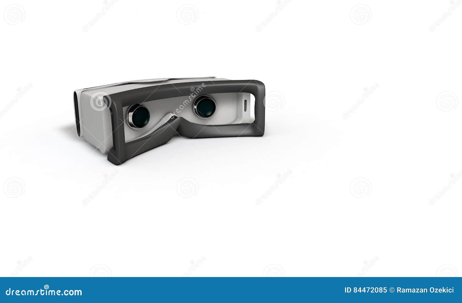 Estudo tridimensional do conceito dos vidros da realidade virtual