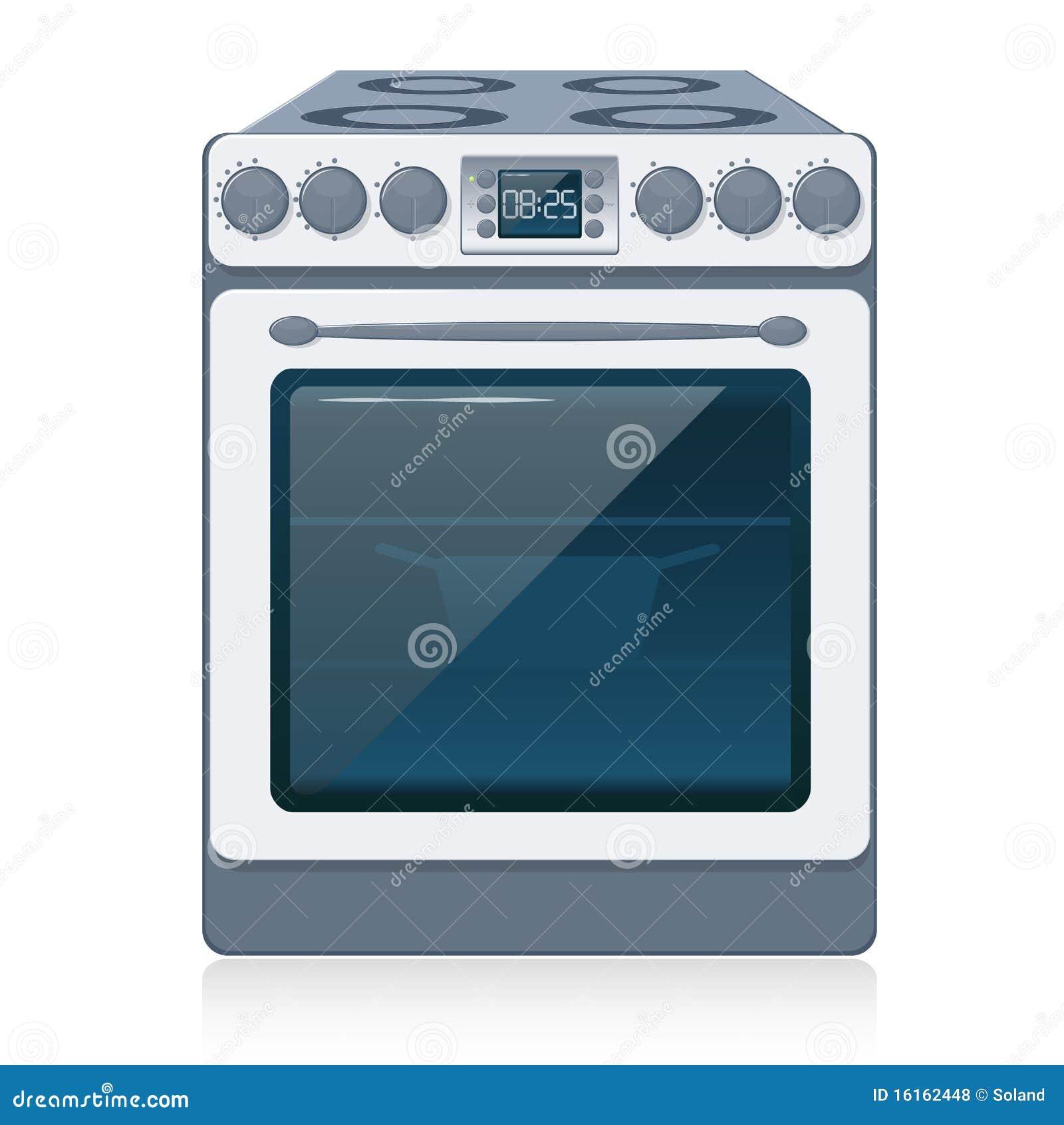 Estufa de cocina aislada en blanco vector ilustraci n for Estufas de cocina de gas