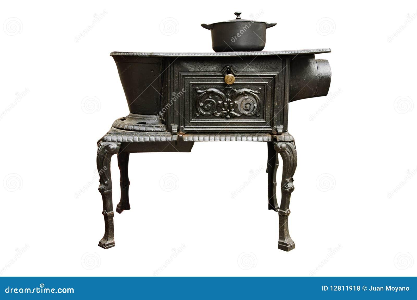 Estufa de cocina antigua foto de archivo imagen de hierro for Cocinas de hierro antiguas