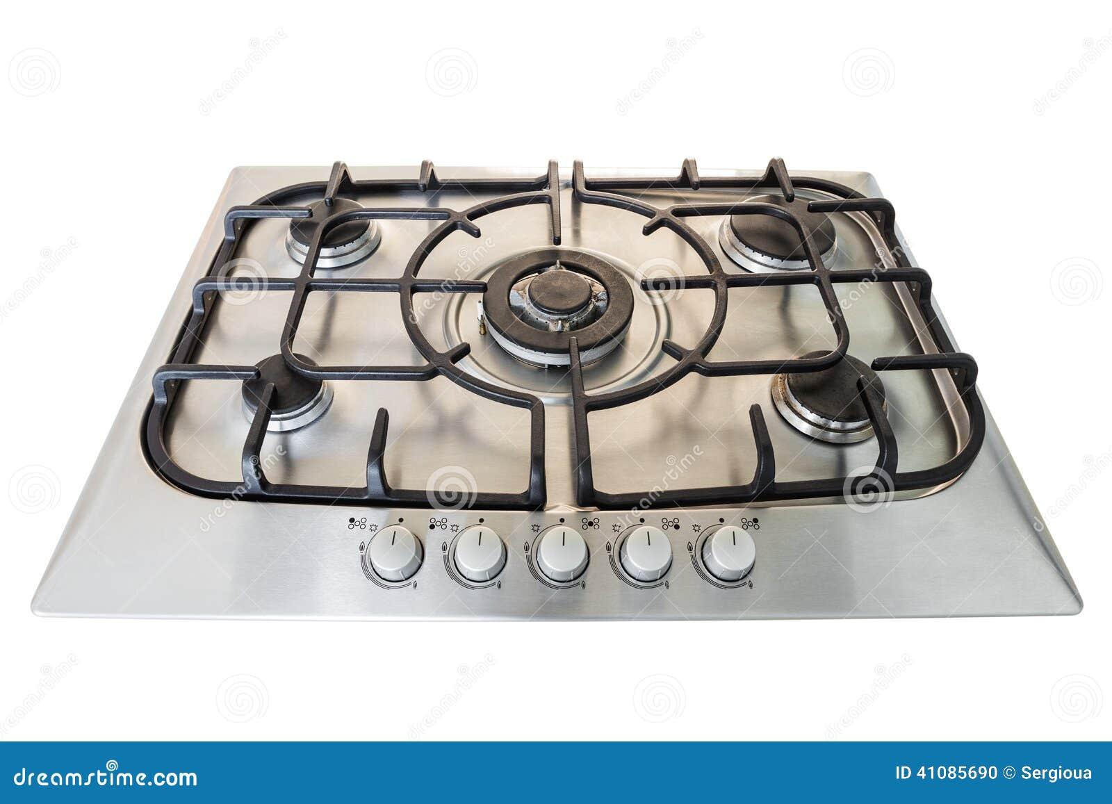 Estufa de cocina moderna del gas foto de archivo imagen for Estufas de cocina de gas