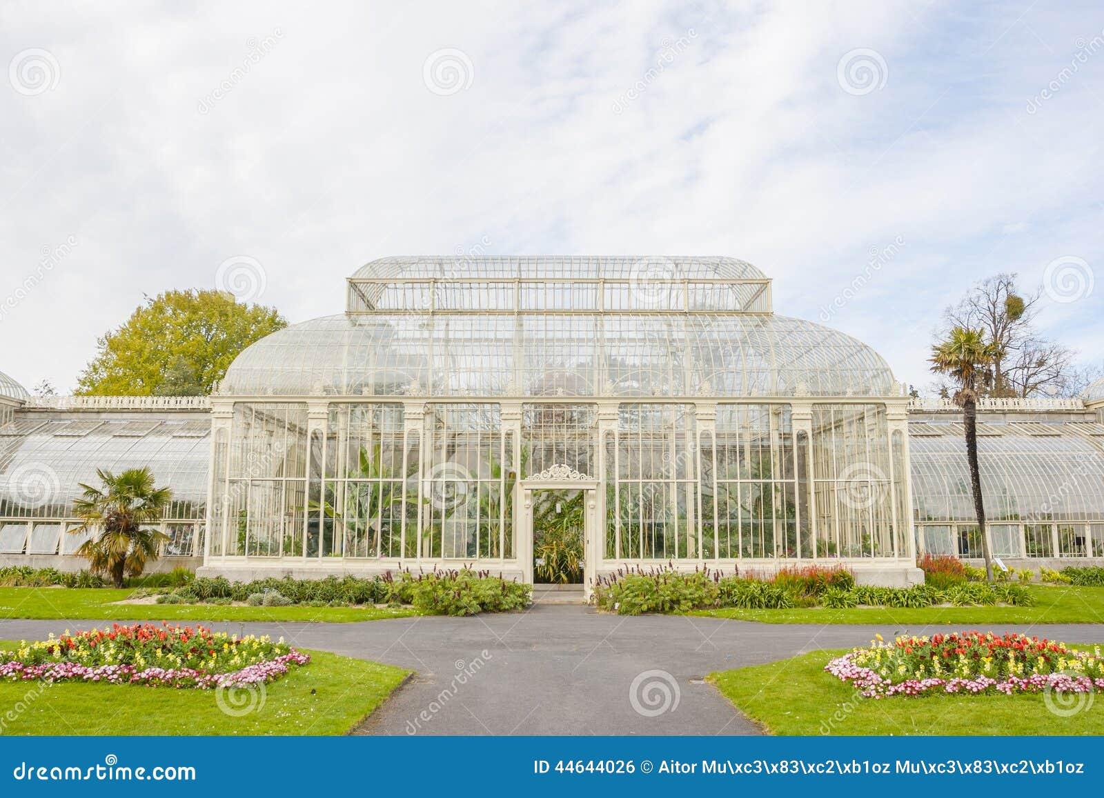 Estufa nos jardins botânicos nacionais