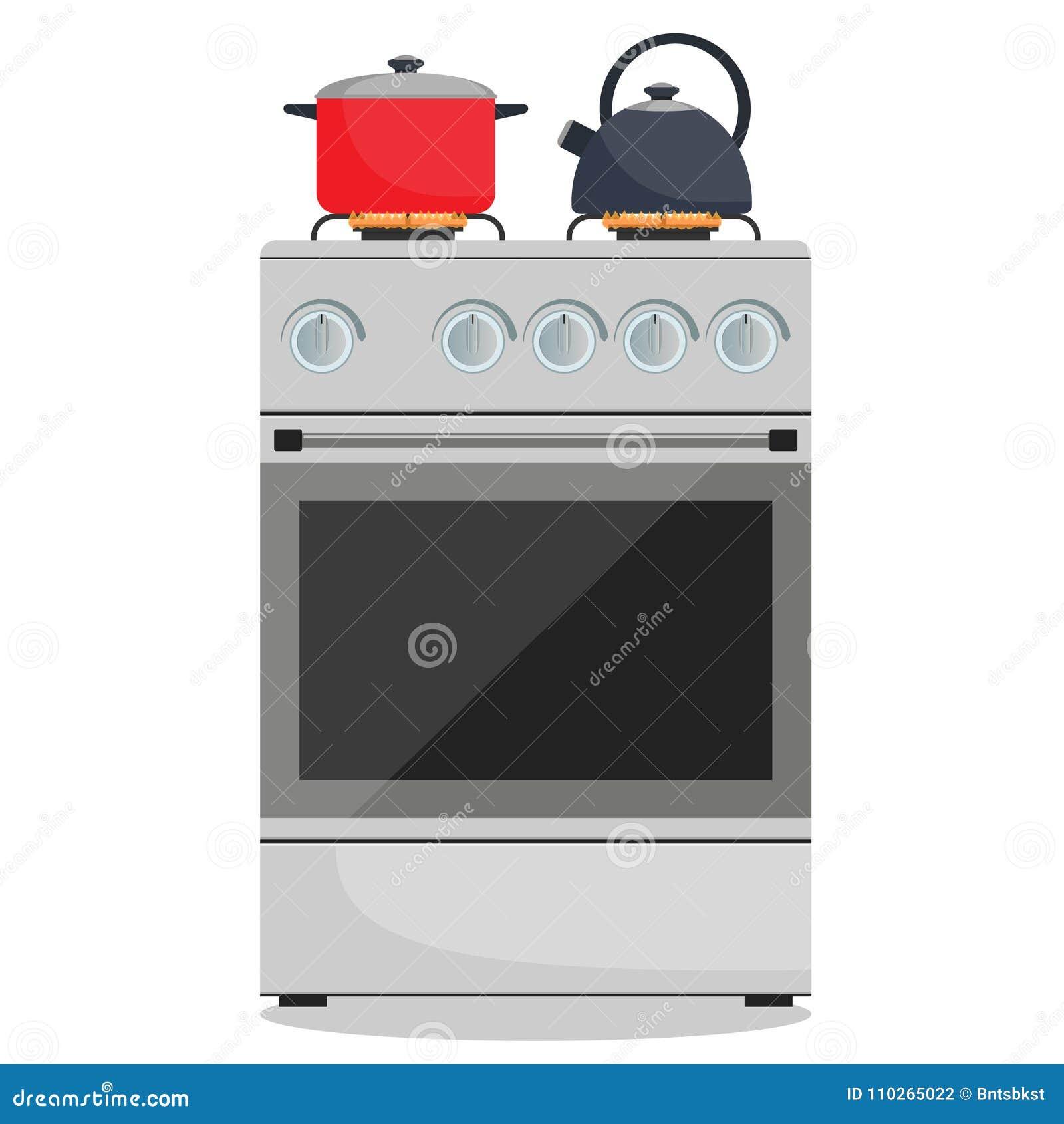 Estufa de cocina ilustraciones stock vectores y clipart for Comida sin estufa