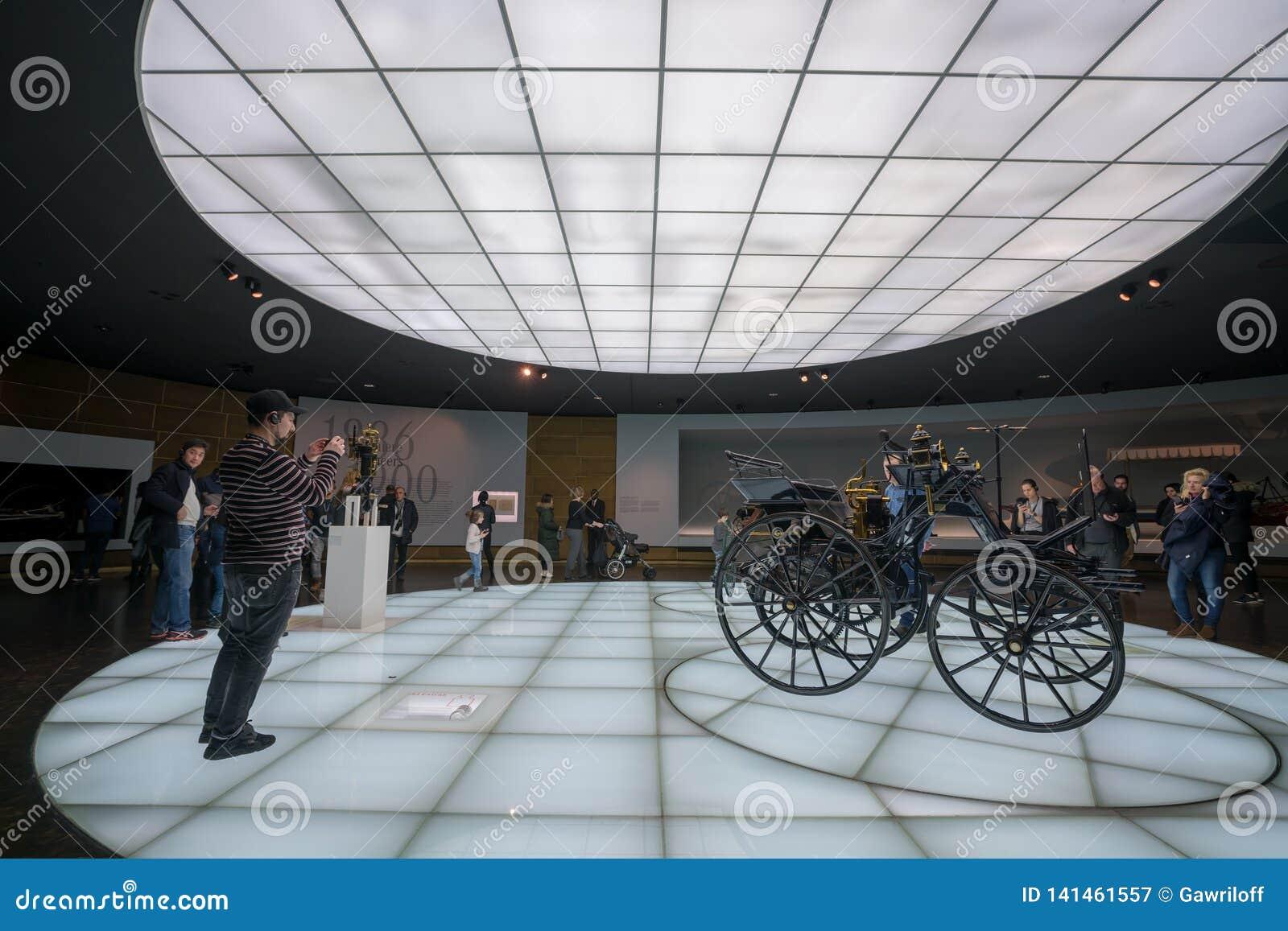 ESTUGARDA, ALEMANHA - 30 DE DEZEMBRO DE 2018: Interior do museu