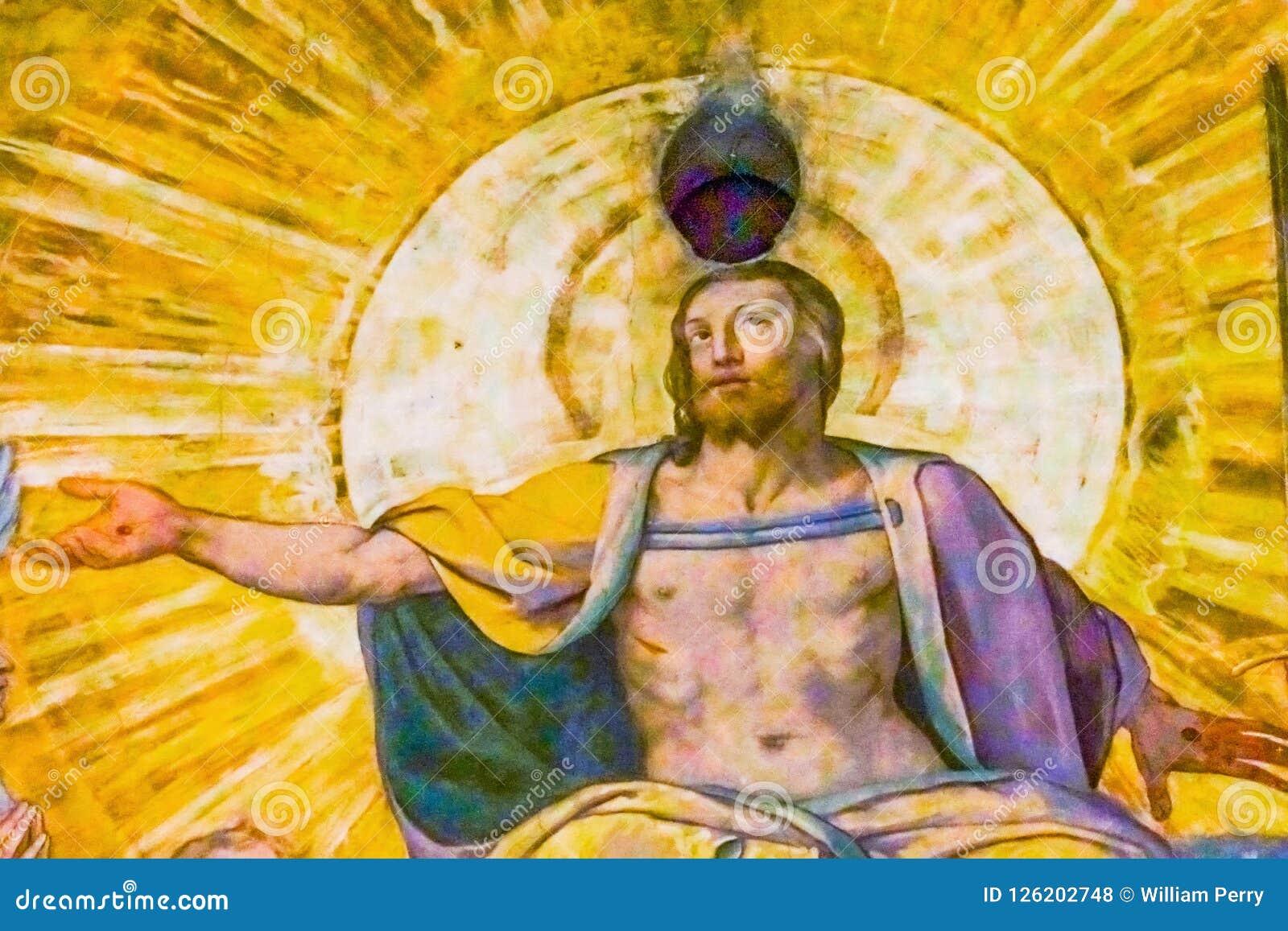 Esus前个评断瓦萨里壁画J圆顶中央寺院大教堂佛罗伦萨