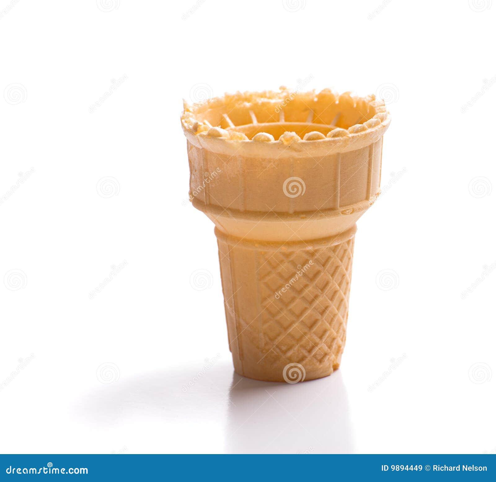 Esvazie o cone de gelado