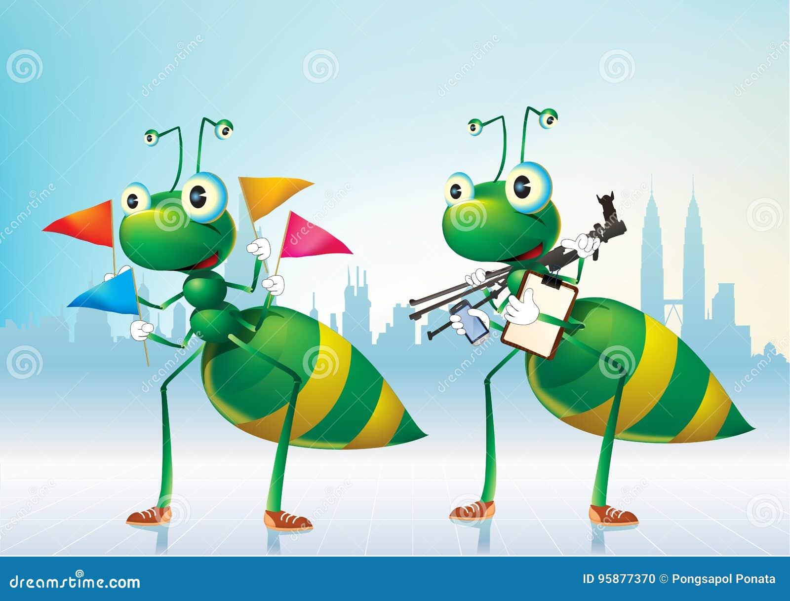 Esverdeia formigas