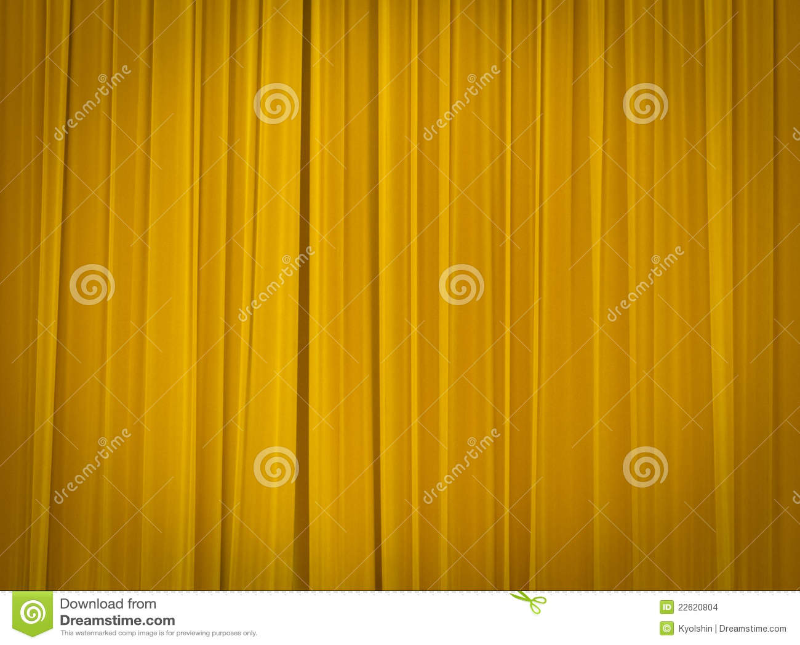 Etapa del teatro con las cortinas cerradas imagenes de for Cortinas amarillas