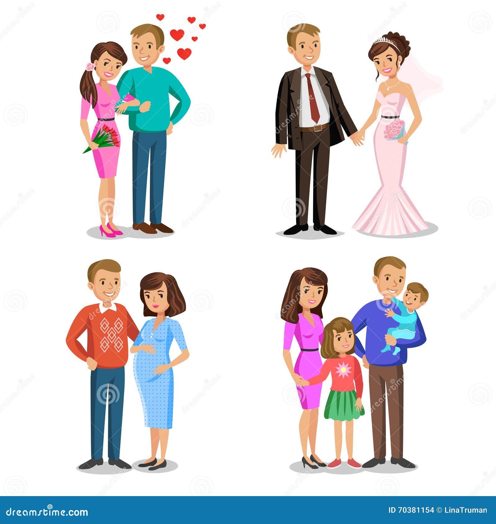 Etapas felices de la familia El crear de la familia feliz