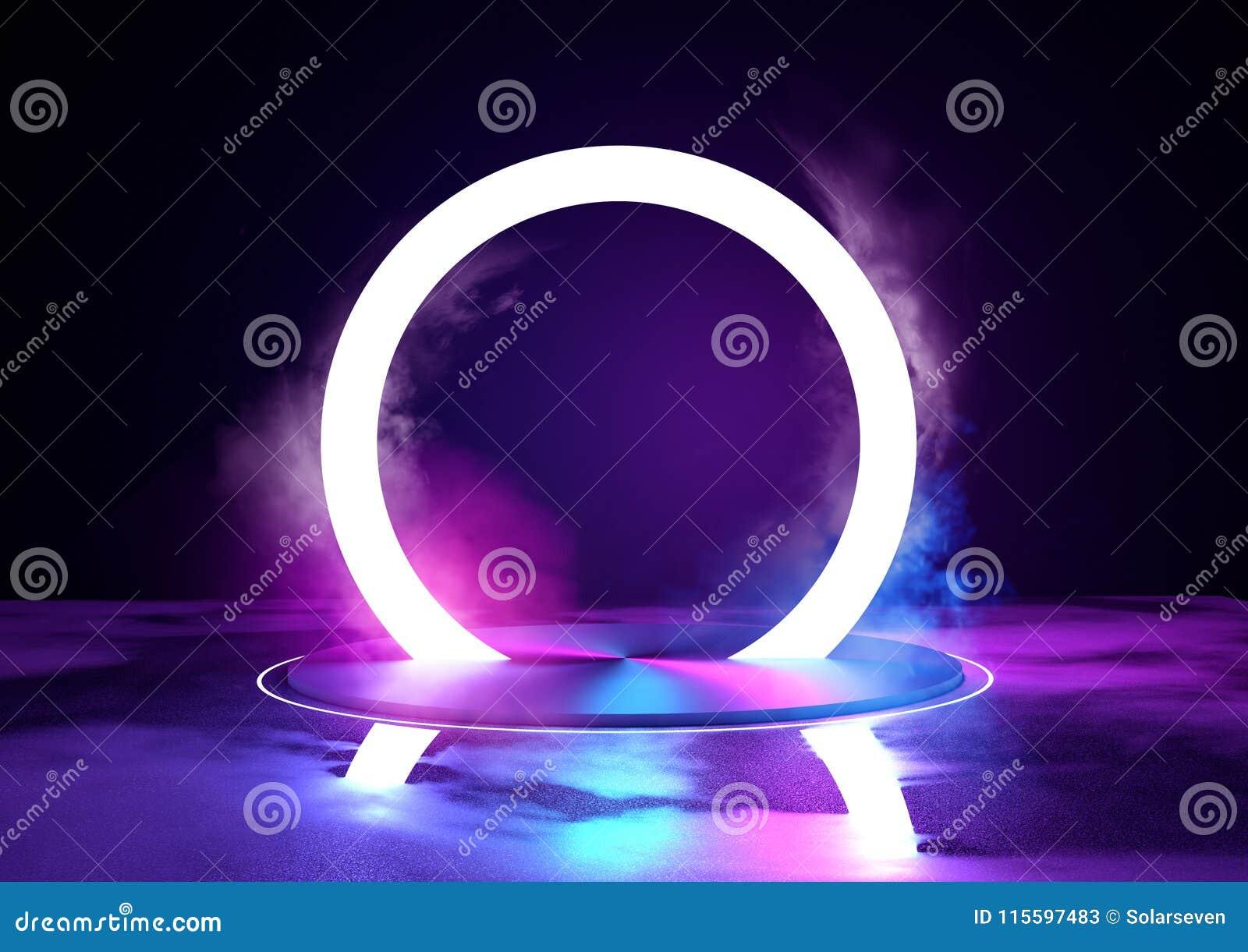Etapp och tända för ögla för neon glödande