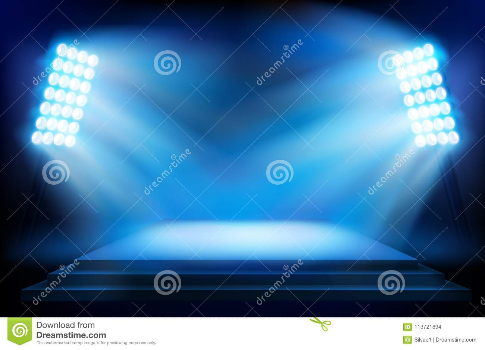 Etapp på stadion också vektor för coreldrawillustration