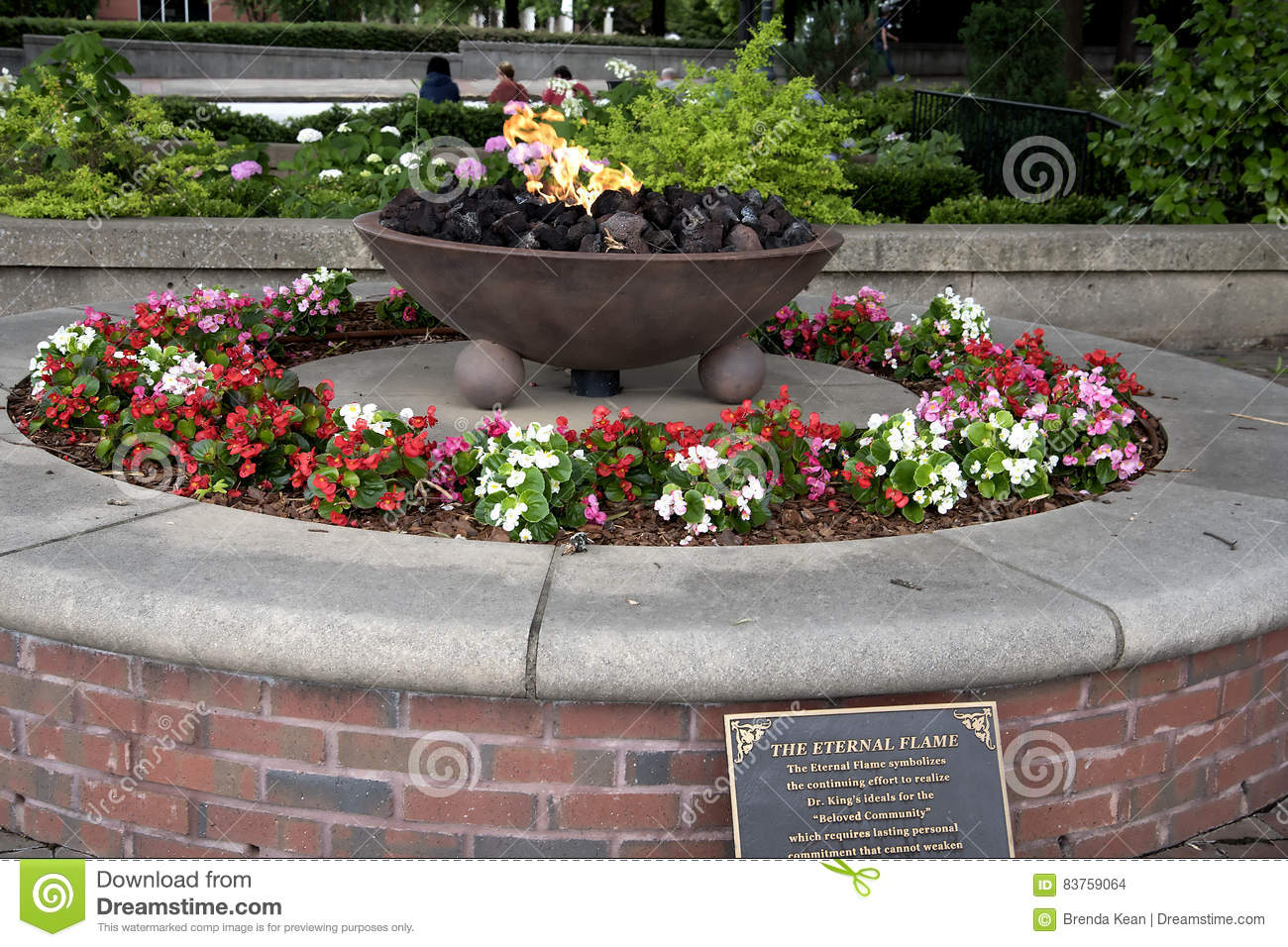 The Eternal Flame At The Memorial Centre To Dr Martin Luther King Jr