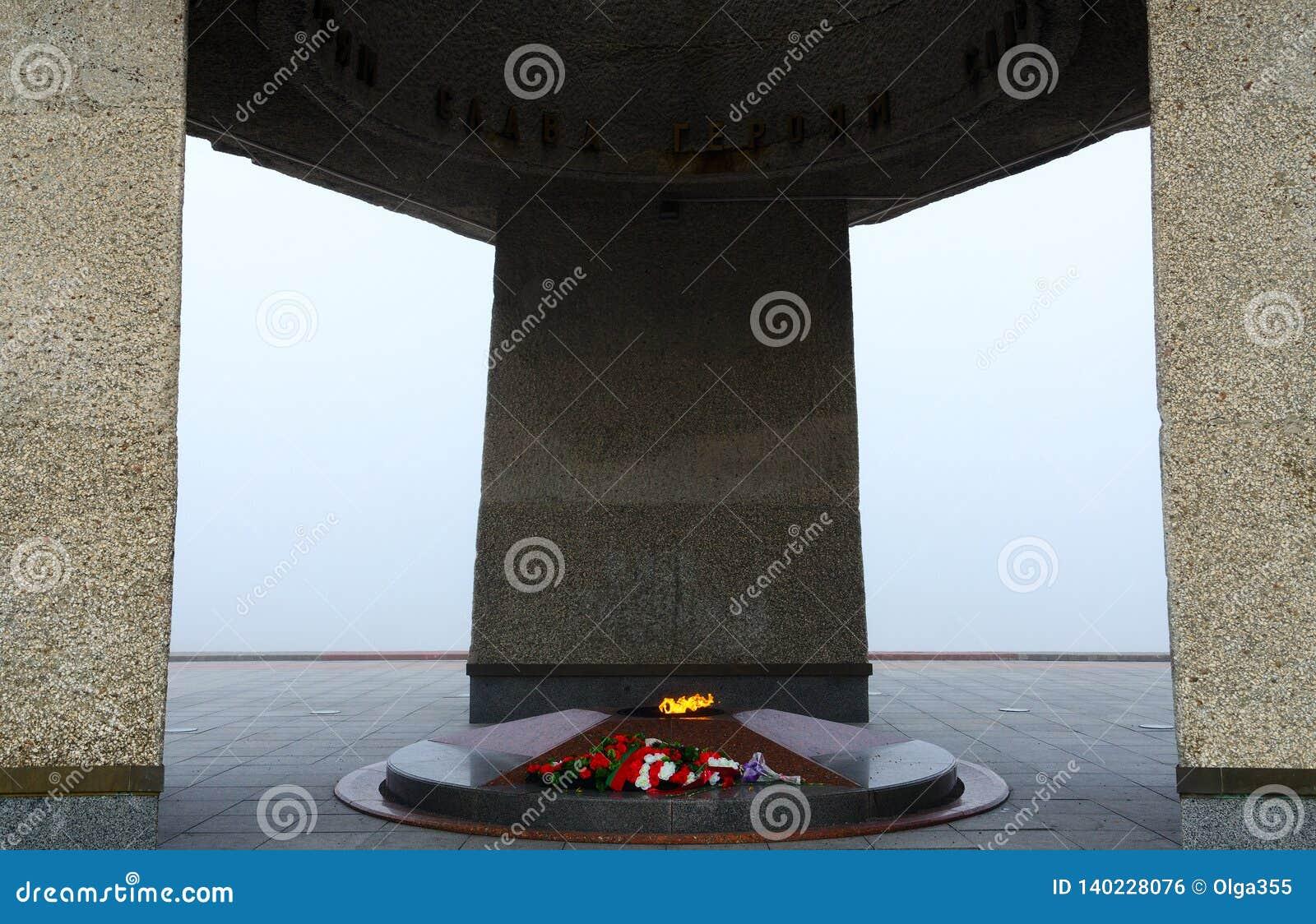 Eternal flame. Memorial complex in honor of Soviet soldiers-liberators, partisans and underground fighters of Vitebsk