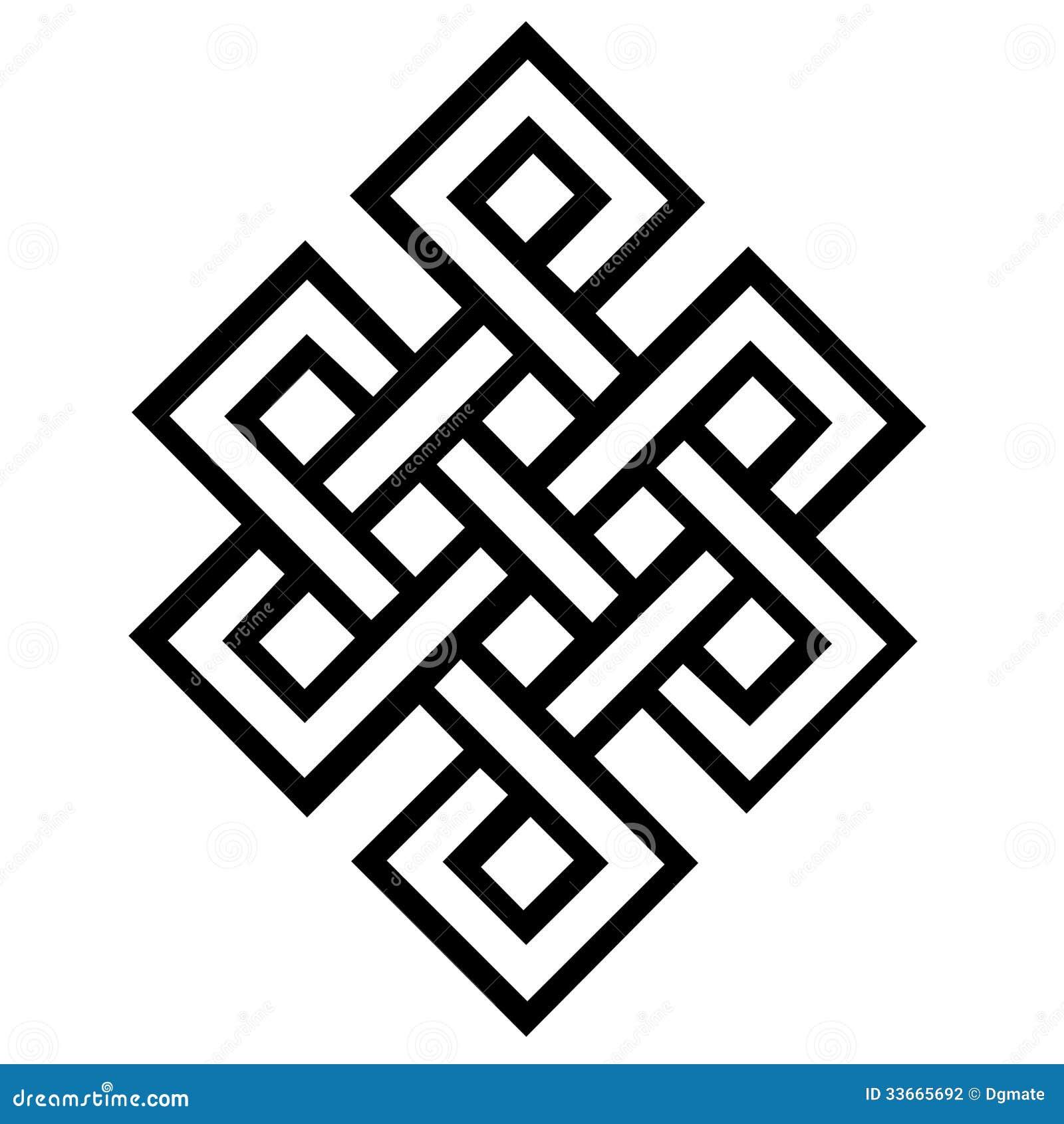 Eternal Knot Stock Illustration Illustration Of Symbol 33665692