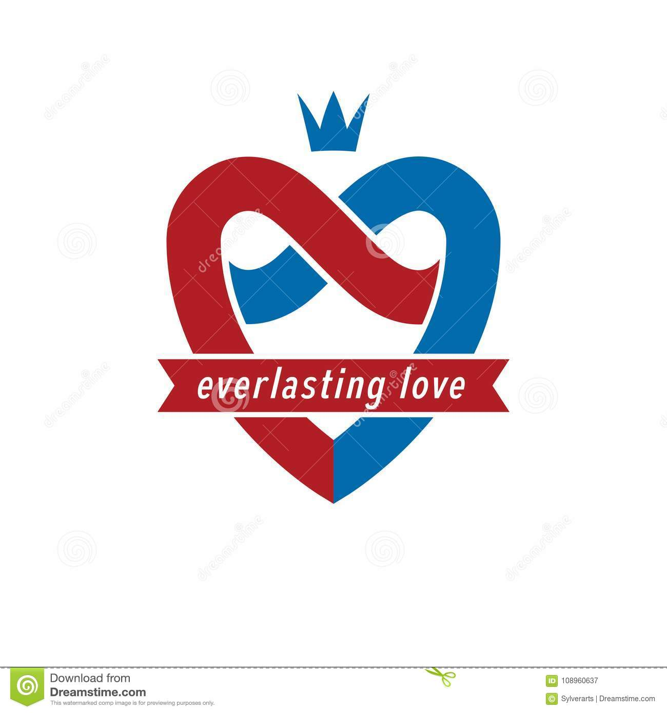 Eternal Love Conceptual Sign Vector Symbol Created With Infinit
