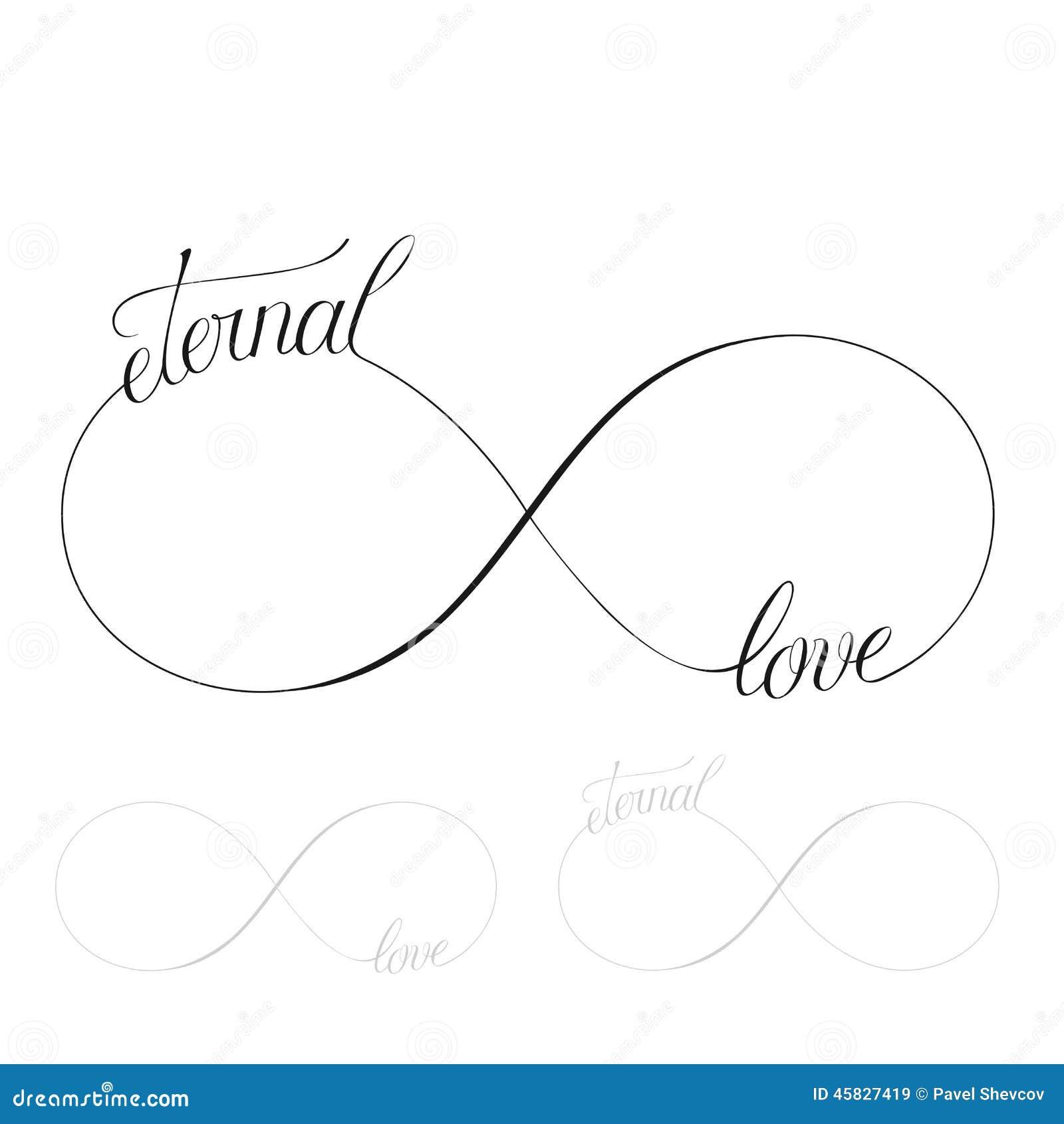 Eternal Love Stock Vector Illustration Of Love Behavior 45827419