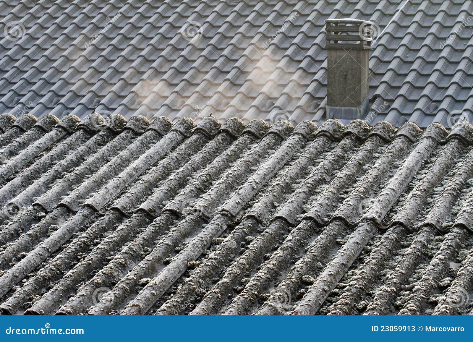 eternit de toit d 39 amiante photos stock image 23059913. Black Bedroom Furniture Sets. Home Design Ideas