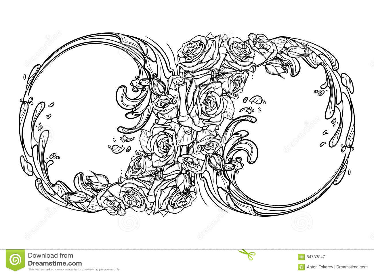 Infinity forever symbol stock vector illustration of geometric eternity sign bw royalty free stock photography biocorpaavc