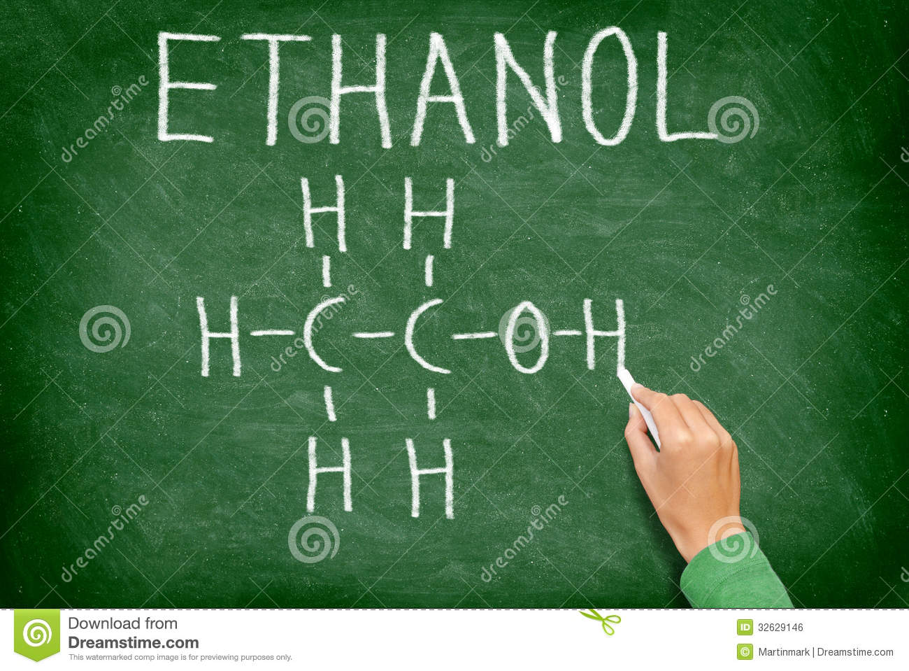 ethanol alcohol chemical molecule structure royalty free