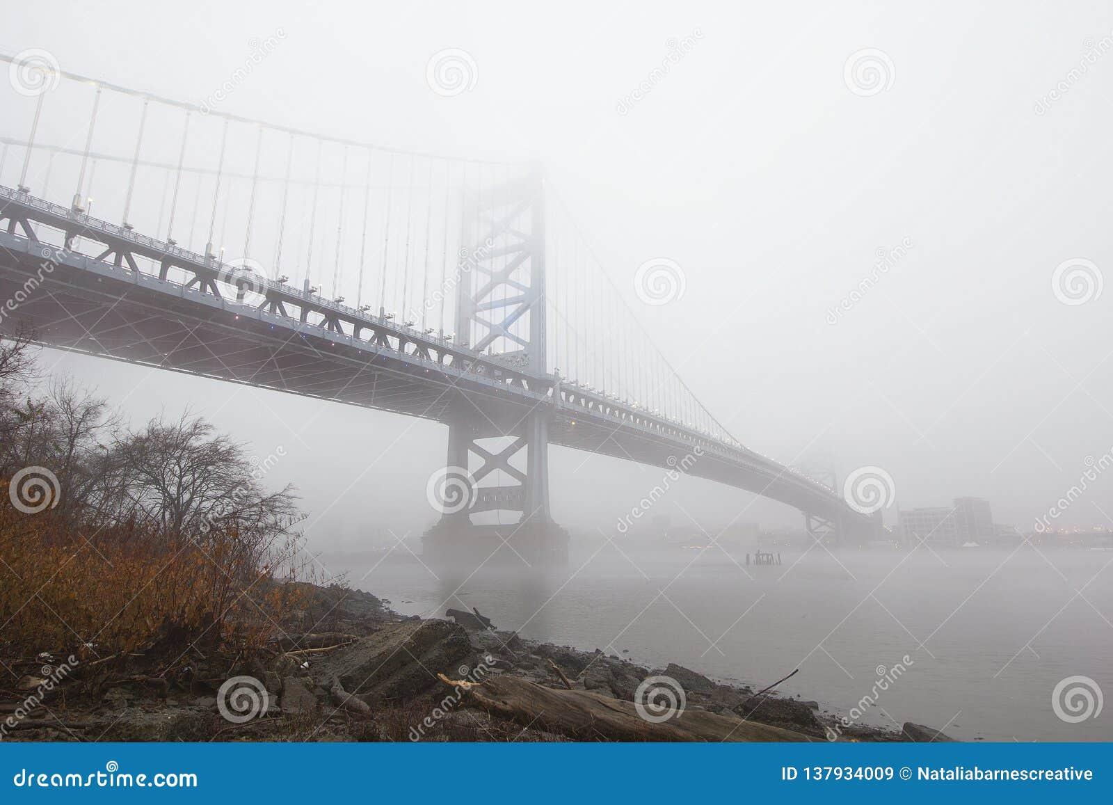 A Bridge Shrouded In Fog Stock Image Image Of Philadelphia 137934009
