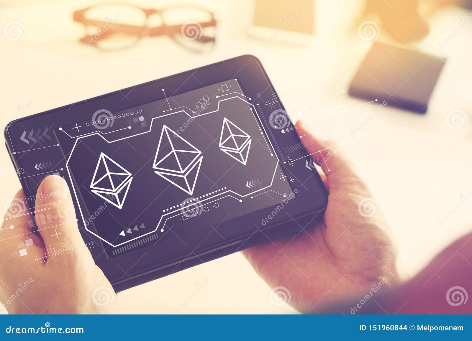 Ethereum avec une tablette