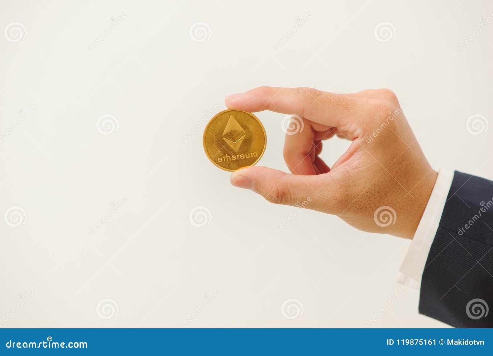 man crypto coin