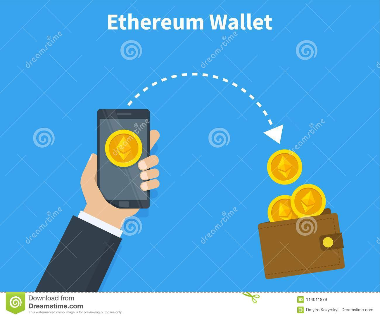 Download Ethereum Wallet With Coins Crypto Currency In The