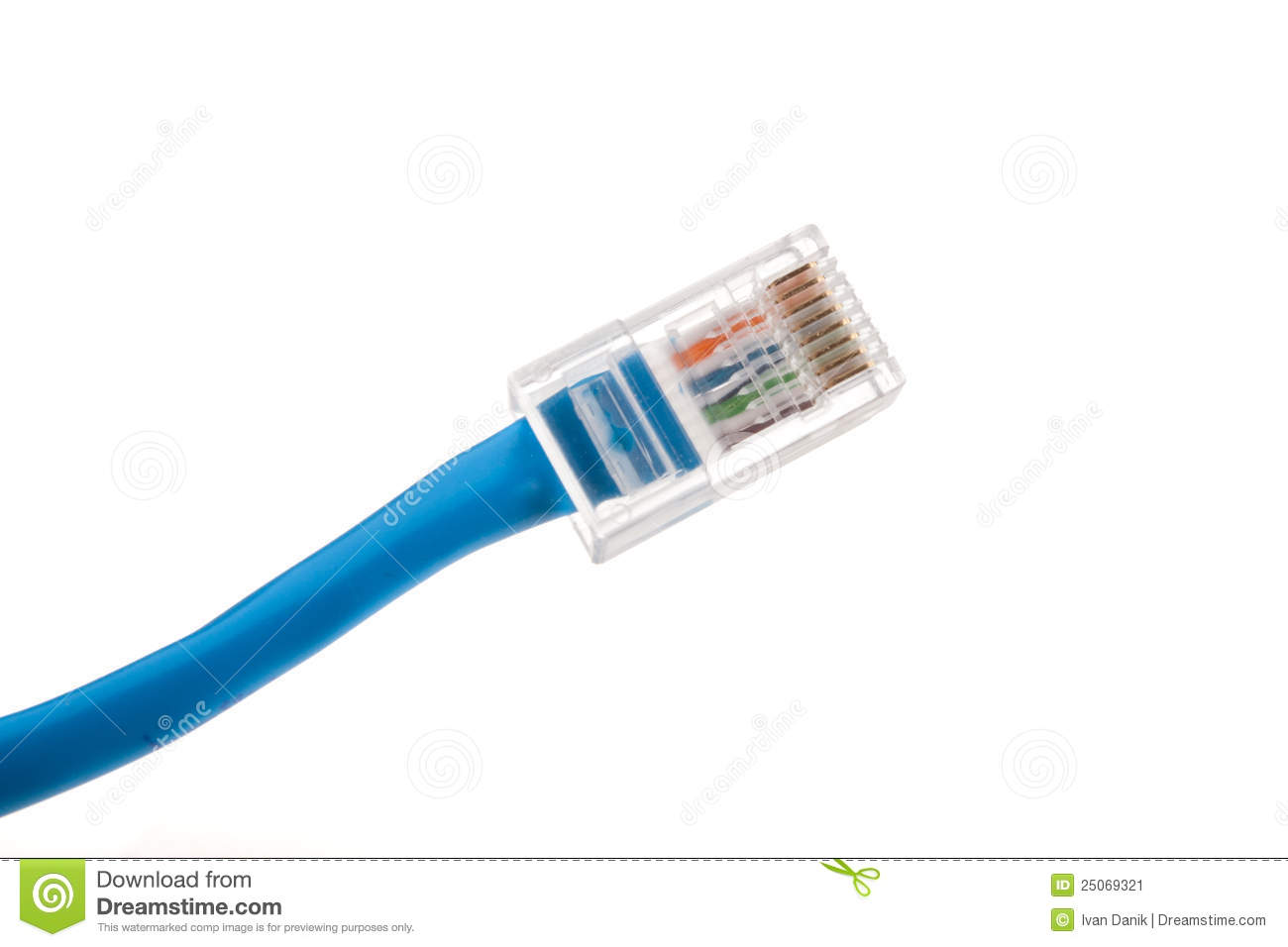 Ethernet cable connector stock image. Image of communication - 25069321