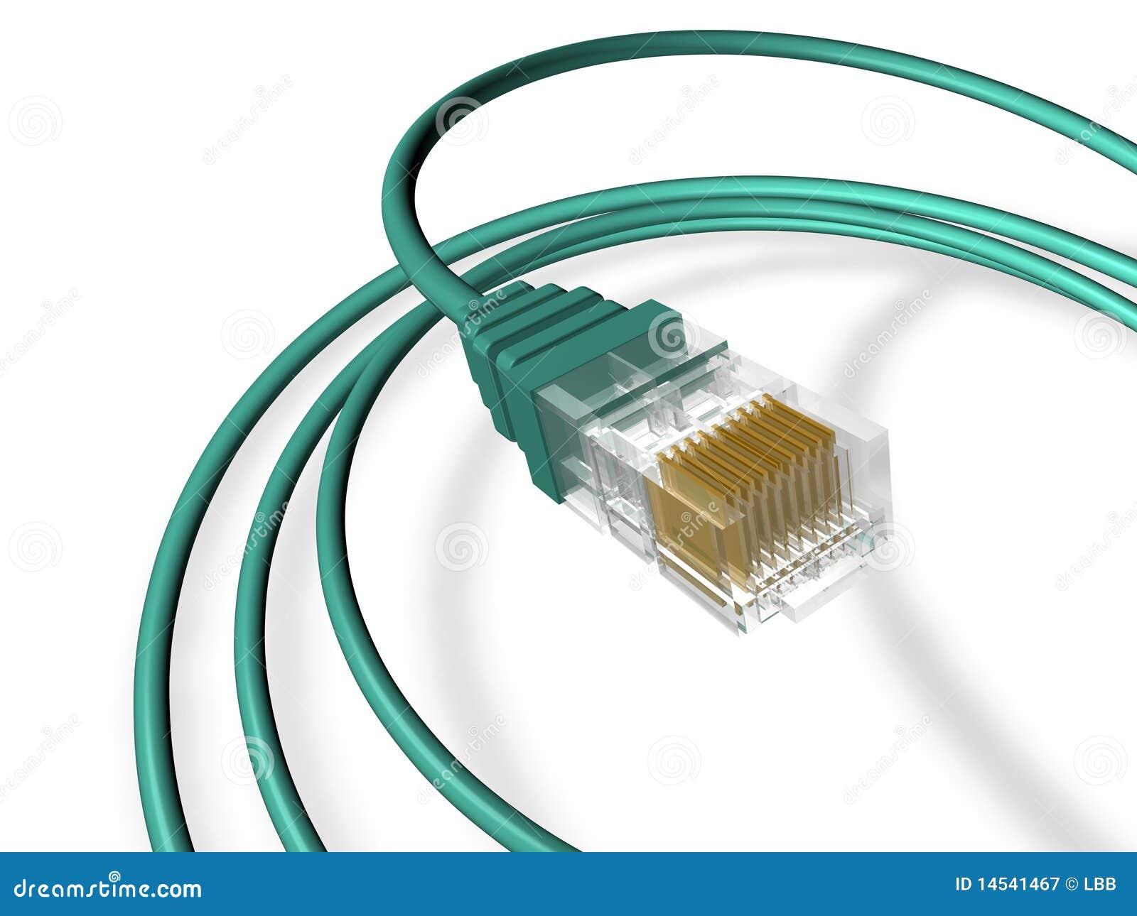 Ethernet Cable Render stock illustration  Illustration of