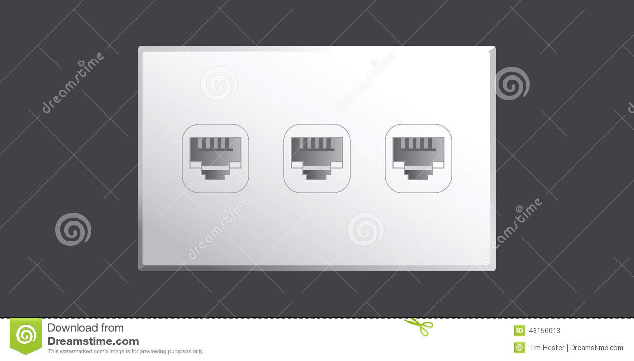 Ethernet Port stock vector. Illustration of cable, data - 46156013