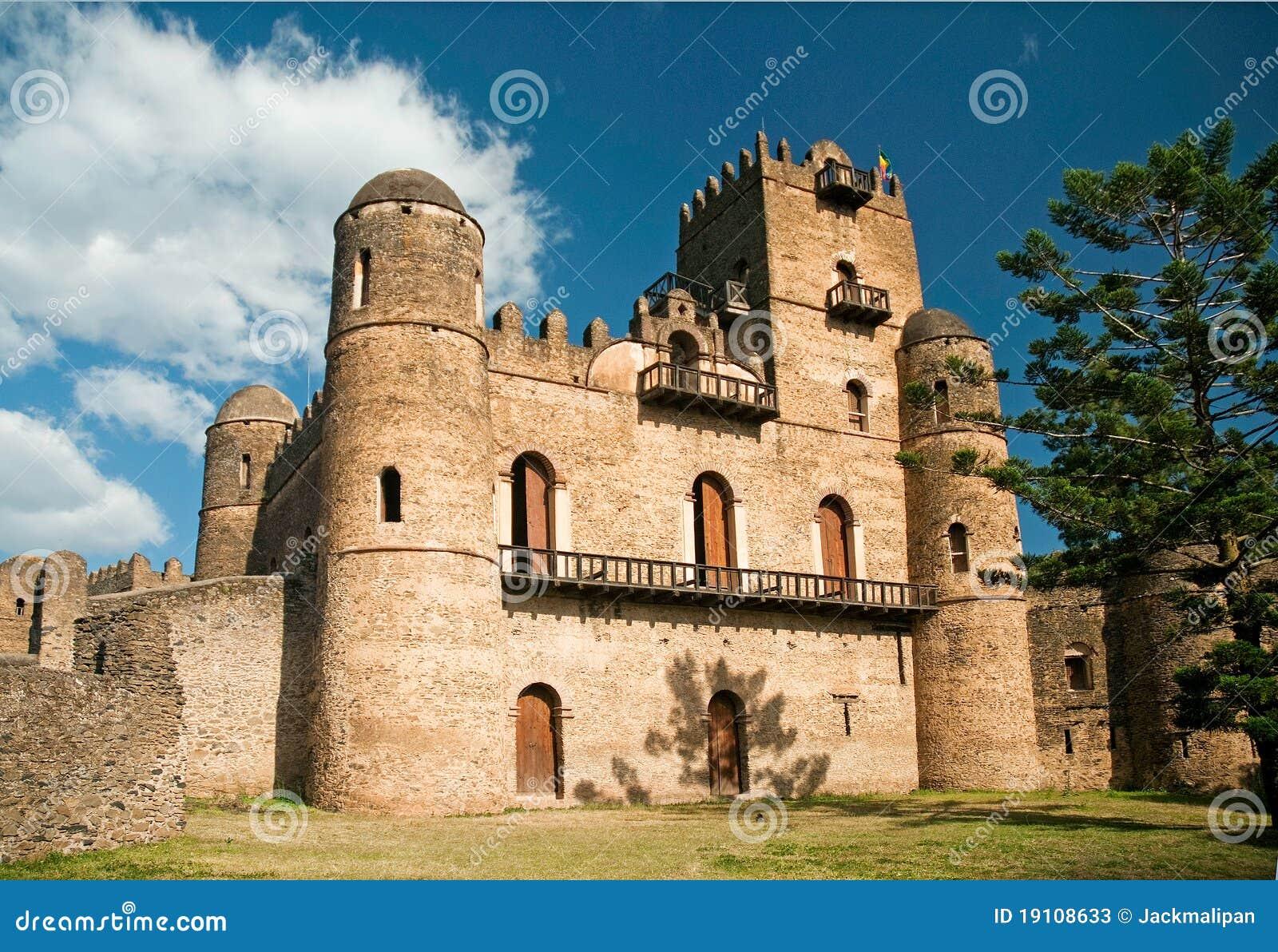 Ethiopian kings castle in gonder gondar ethiopia