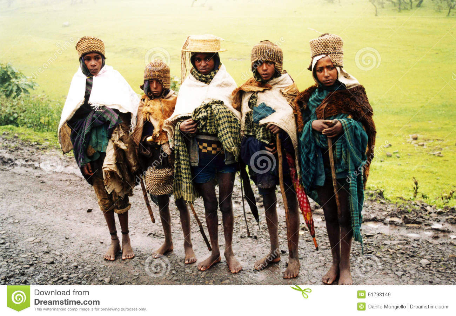 Ethiopian Mountain People Editorial Stock Image - Image ...