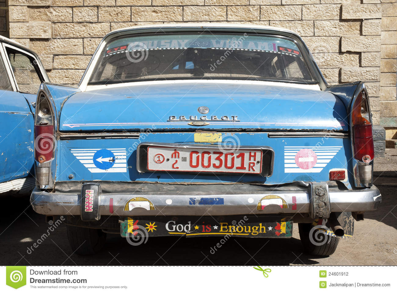 ethiopian old peugeot taxi in harar ethiopia editorial photography