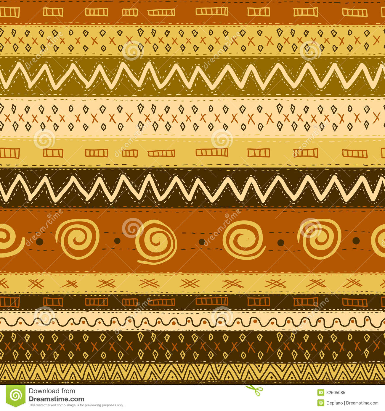 Ethnic African Seamless Background Royalty Free Stock
