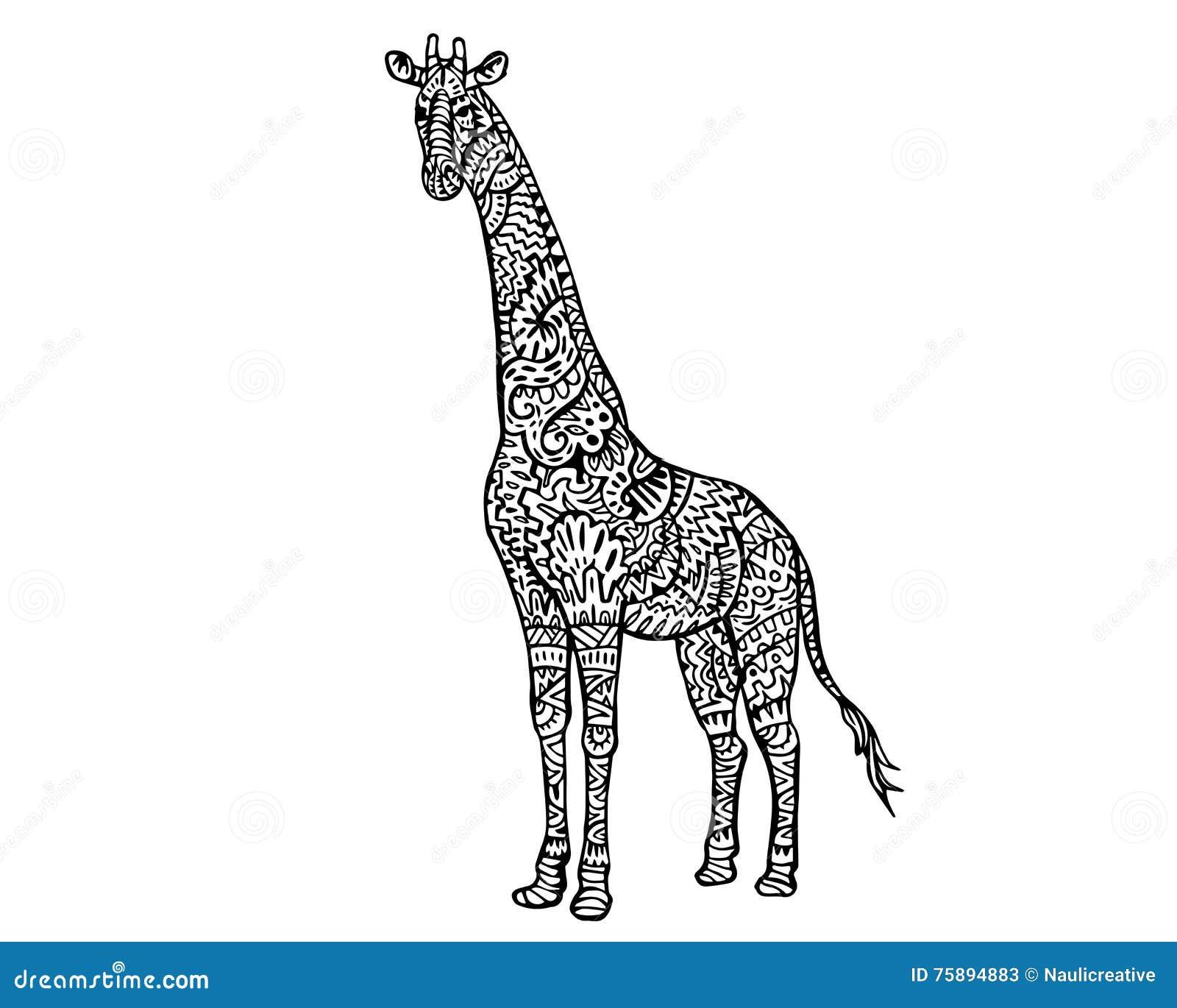 Ethnic Animal Doodle Detail Pattern