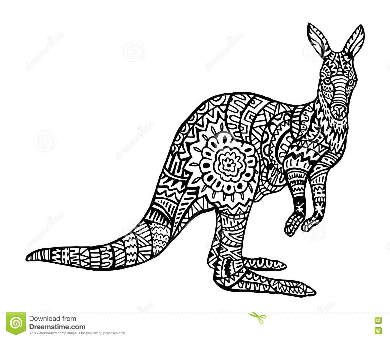 Royalty Free Vector Download Ethnic Animal Doodle