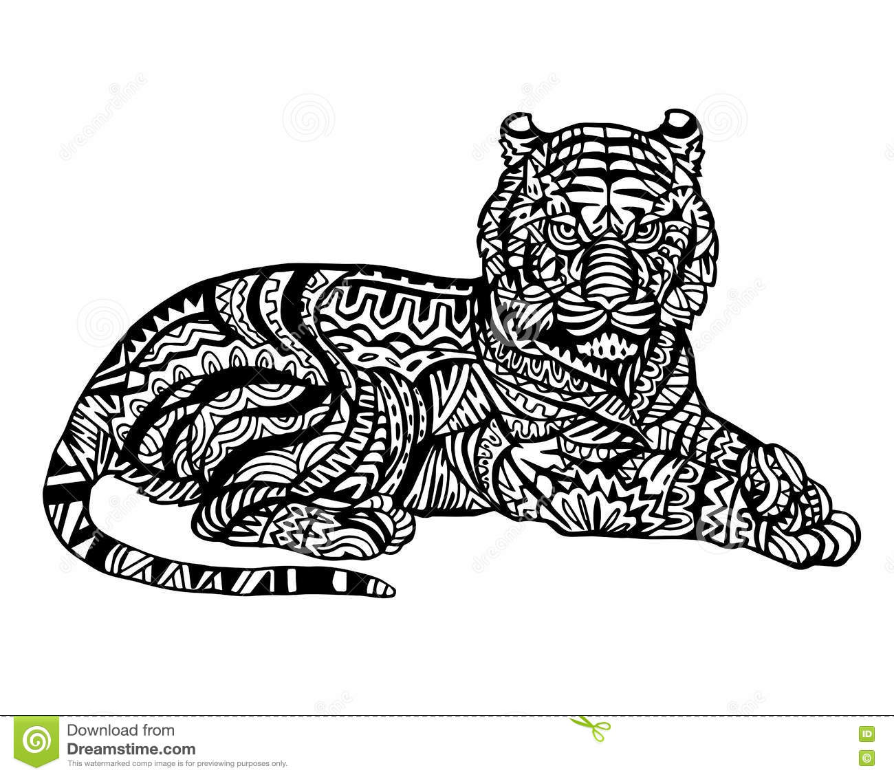 Zentangle Coloring Pages TigerColoringPrintable Coloring Pages