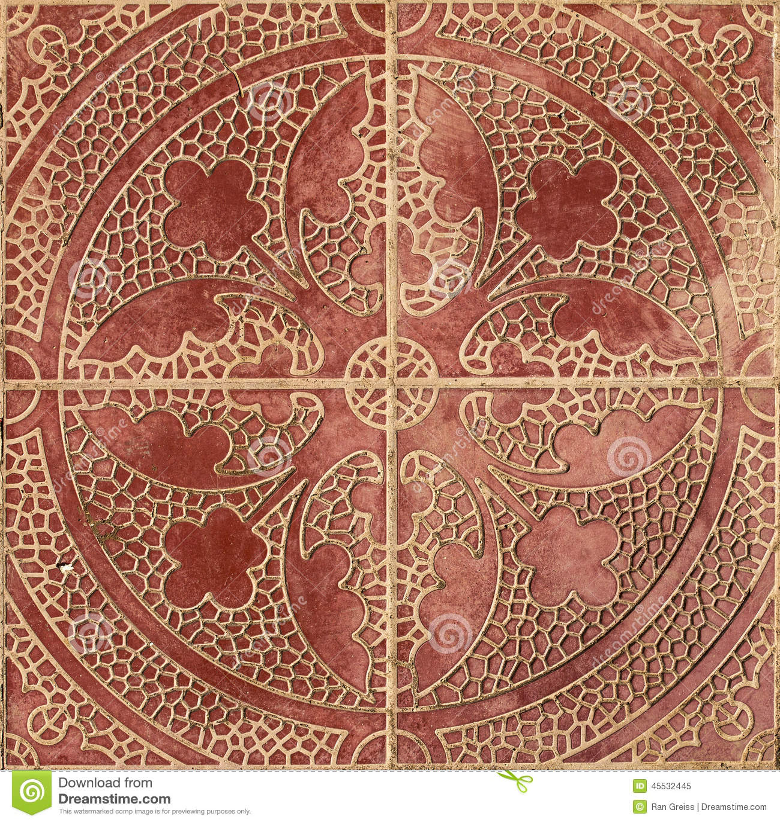 Ethnic Arabic Ornaments Pattern Tiles Design Stock Photo